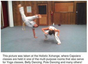 An example of Capoiera dancing at the Wellness Center