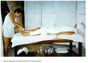 A picture of a mexican woman performing massage in Puerto Villarta